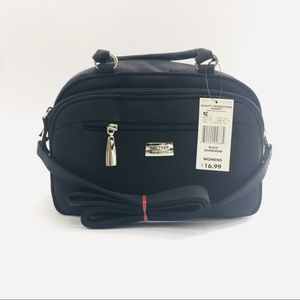The Filer Black Purse Hand Bag Lots of Pockets!